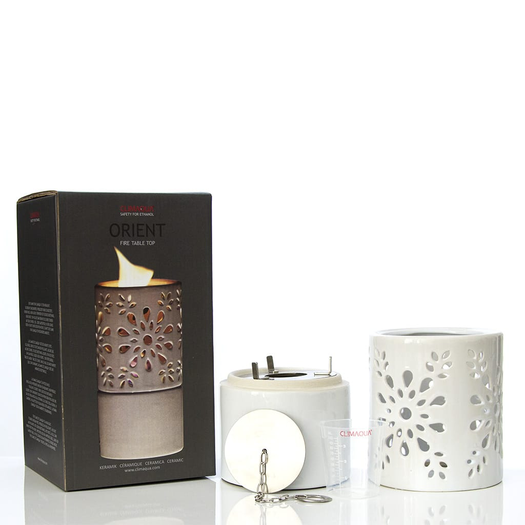CLIMAQUA Flames Tabletop ORIENT weiss