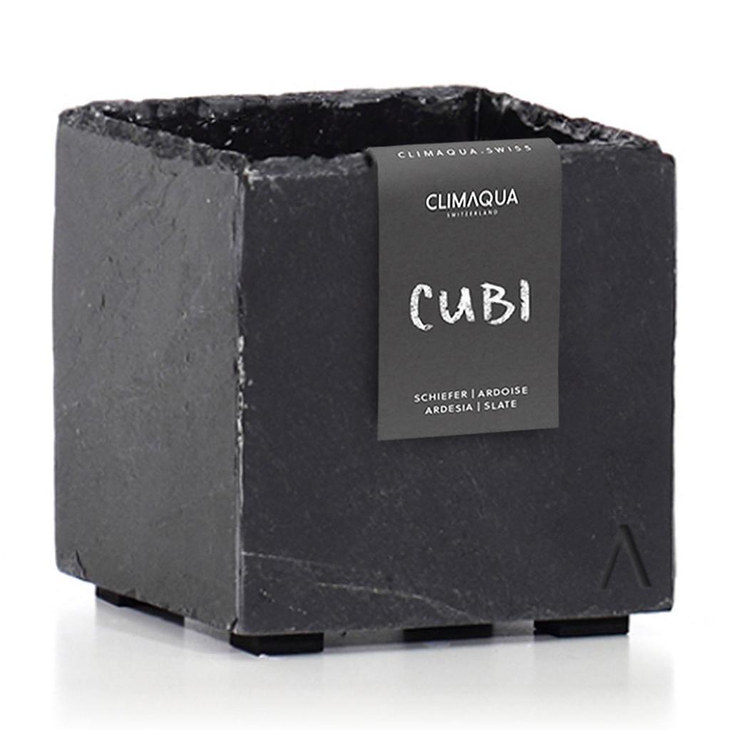 CLIMAQUA Planter Indoor CUBI 13 anthracite